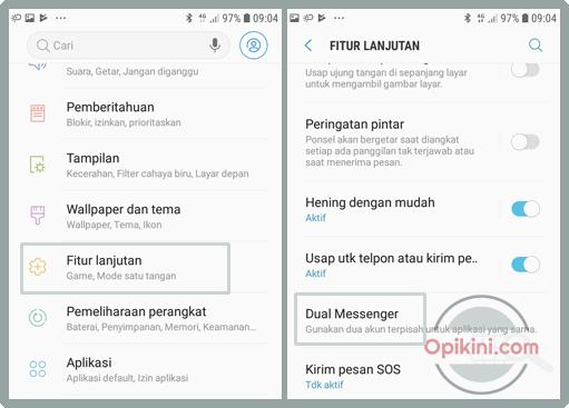 Cara Mengaktifkan dan Menggunakan Dual Messenger Pada HP Samsung
