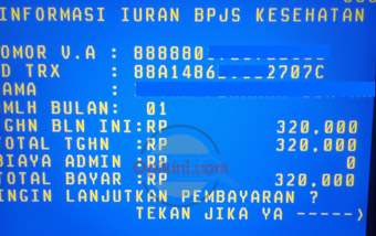Bayar BPJS Lewat ATM BNI