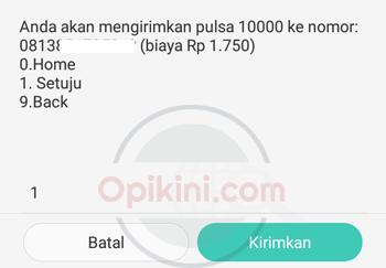 Transfer Pulsa ke Sesama Telkomsel via *858#