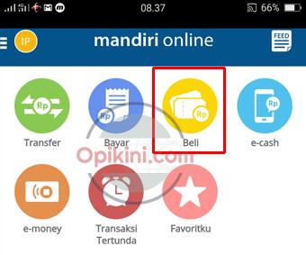 Cara Membeli Token PLN Prabayar Lewat Mandiri Online di HP Android