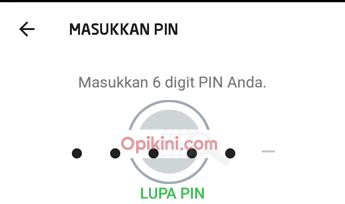 masukan PIN GO-PAY