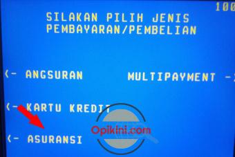 Pilih menu Asuransi