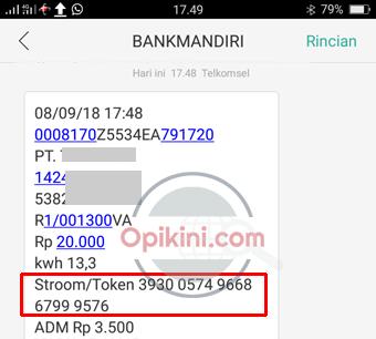 Isi Token Listrik Lewat SMS Banking Mandiri