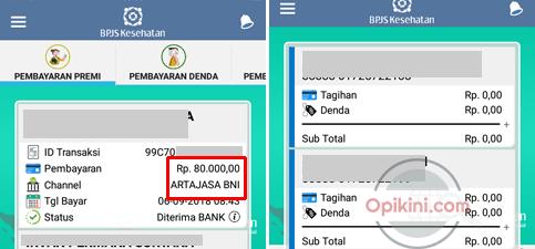 Apakah pembayaran BPJS Kesehatan via Go-Bills di Aplikasi Go-jek langsung tercatat?