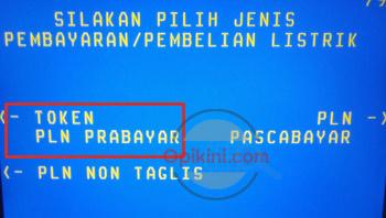 Pilih Token PLN Prabayar