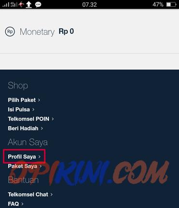 masuk ke halaman MyTelkomsel