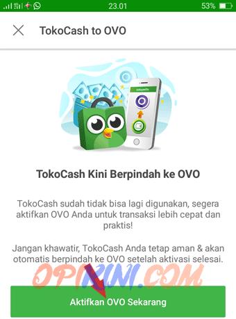 Cara Aktivasi OVO di Tokopedia Android