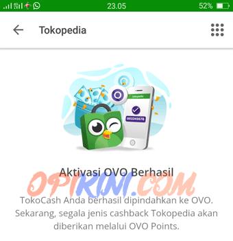 Aktivasi OVO di Tokopedia Android