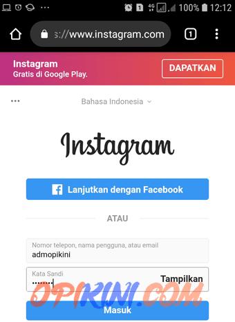Cara Menghapus Akun Instagram Permanen Lewat HP Android