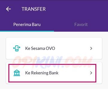 Ke Rekening Bank