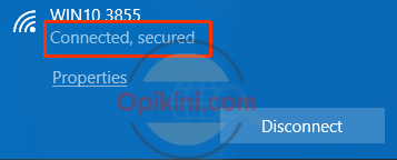 klik nama hotspot Windows 10