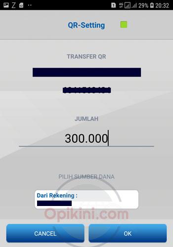 masukan nominal transfer