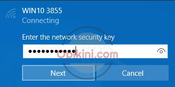 Masukan password WiFi