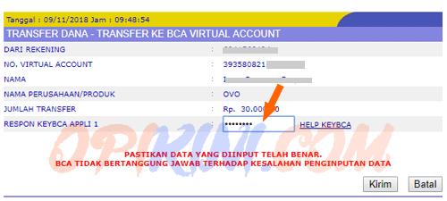 Cara Top Up Saldo OVO Lewat Internet Banking BCA (KlikBCA)