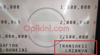 ATM BCA Transaksi Lainnya