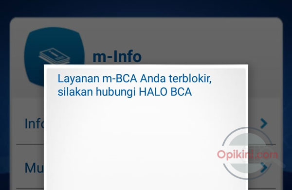 Pengalaman Mengatasi M-BCA Terblokir Karen Salah PIN 3X