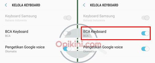 Aktivasi dan Menggunakan BCA Keyboard di Android
