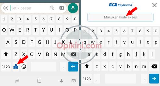Menggunakan BCA Keyboard