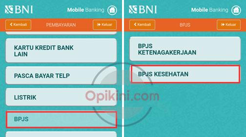 Cara Bayar BPJS Kesehatan Lewat BNI Mobile