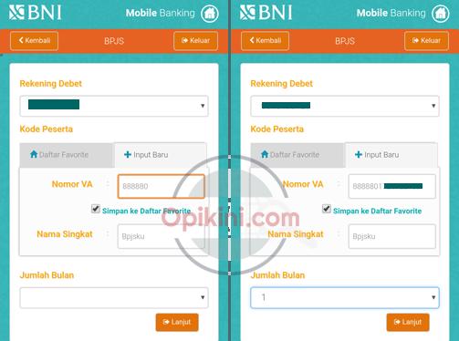 bayar BPJS via m banking BNI