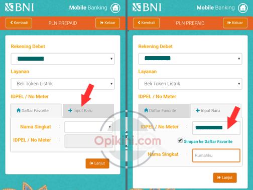 Membeli Token Listrik Di BNI Mobile Banking