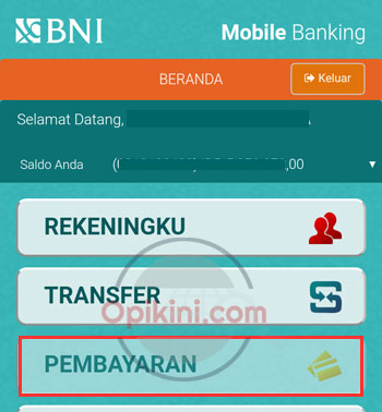 Bayar BPJS Kesehatan Lewat BNI Mobile