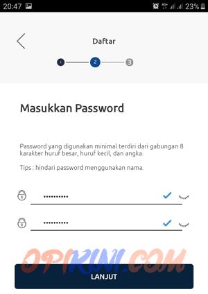 buat password BRImo