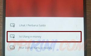 Pilih Isi Ulang e-money
