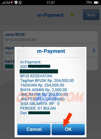 pembayaran BPJS melalui mobile banking