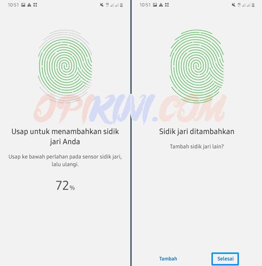 mengganti sidik jari pada HP Samsung