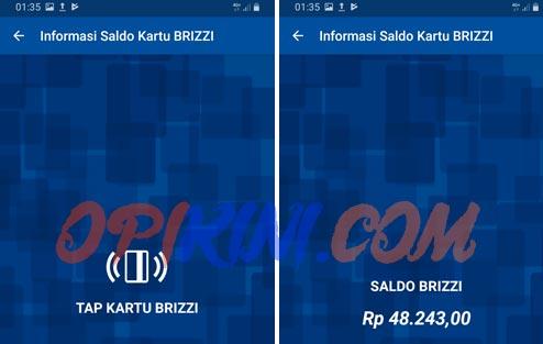 Cek Saldo BRIZZI BRI Dengan Aplikasi BRI Mobile