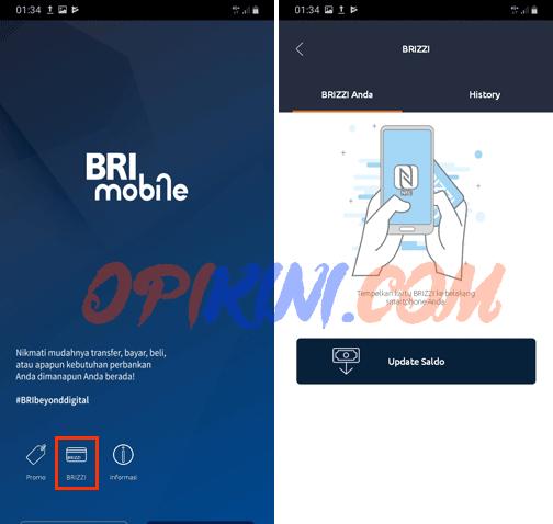 Cek Saldo E-Toll BRIZZI Di Android Pakai Aplikasi BRImo