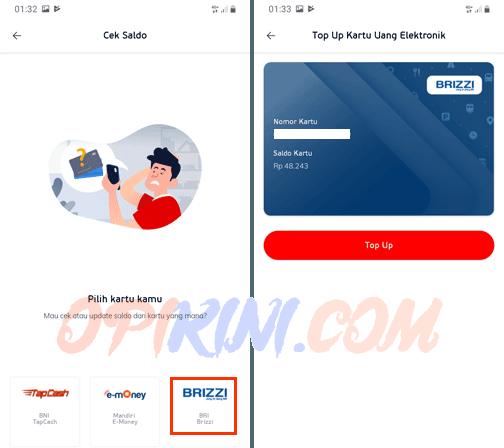 Tempelkan kartu e-toll BRIZZI