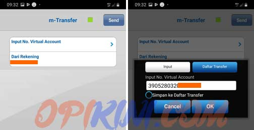 input No. Virtual Account