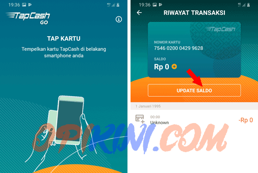 update saldo tapcash BNI