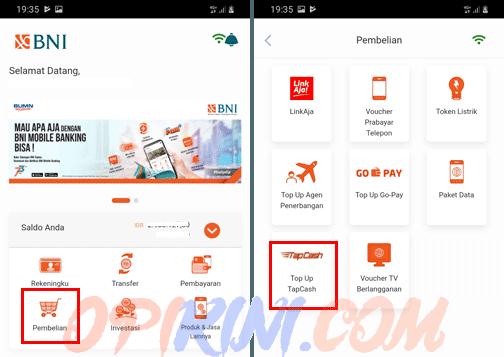 Cara Top Up Tapcash Lewat BNI Mobile Banking