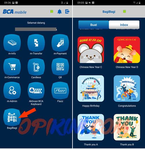 Cara Kirim Uang Menggunakan BagiBagi Di BCA Mobile