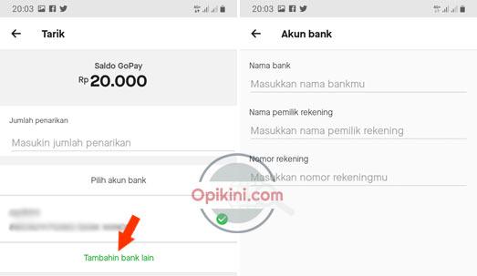tap Tambahin bank lain