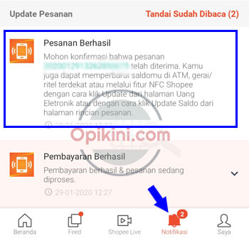 Cara Update Saldo E-Money Mandiri Di Shopee