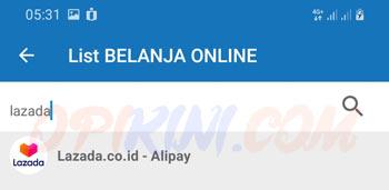 pilih Lazada.co.id – Alipay