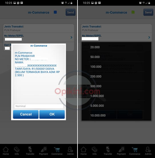 Membeli Token Listrik Via Mobile Banking BCA