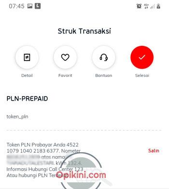 Membeli Token Listrik Di Aplikasi LinkAja