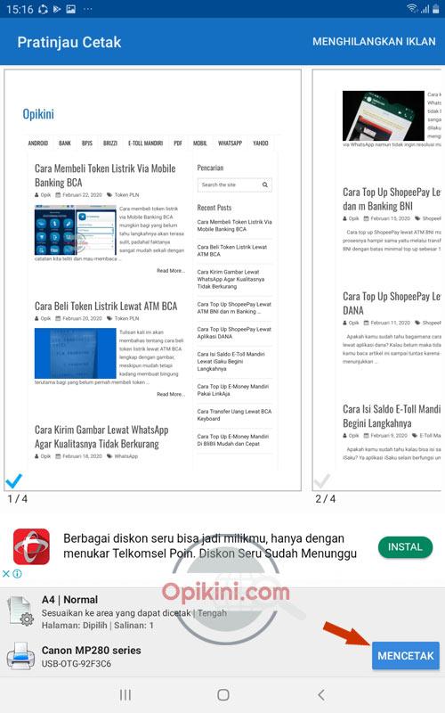 Cara Mencetak Halaman Web Di Google Chrome Android Ke Printer