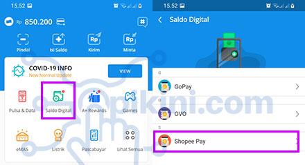 Cara Transfer DANA ke ShopeePay Lewat Menu Saldo Digital