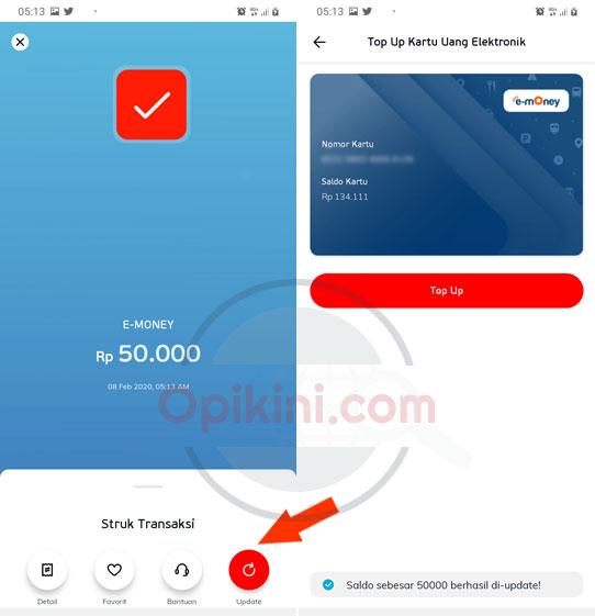 Cara Top Up E-Money Mandiri Pakai LinkAja
