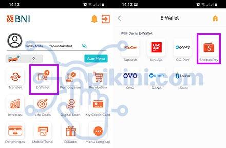 Cara Top Up Saldo ShopeePay Lewat BNI Mobile 2021