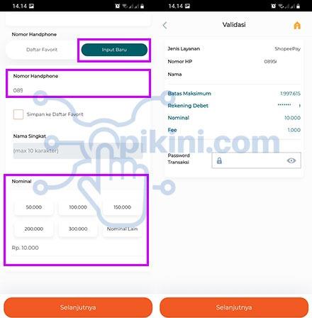 Transfer BNI Ke ShopeePay Menu E-Wallet