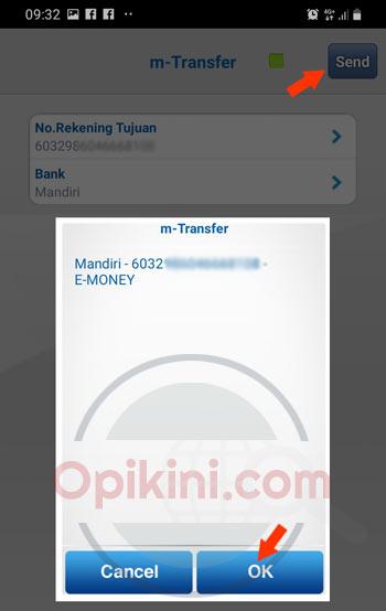 masukan 16 angka nomor kartu e-money