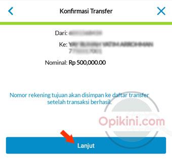 Konfirmasi Transfer Uang