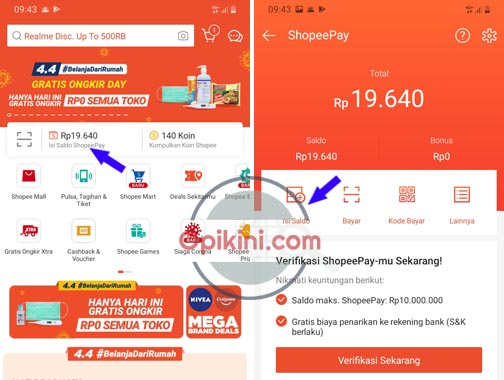 Cara Top Up ShopeePay Lewat Indomaret dan iSaku